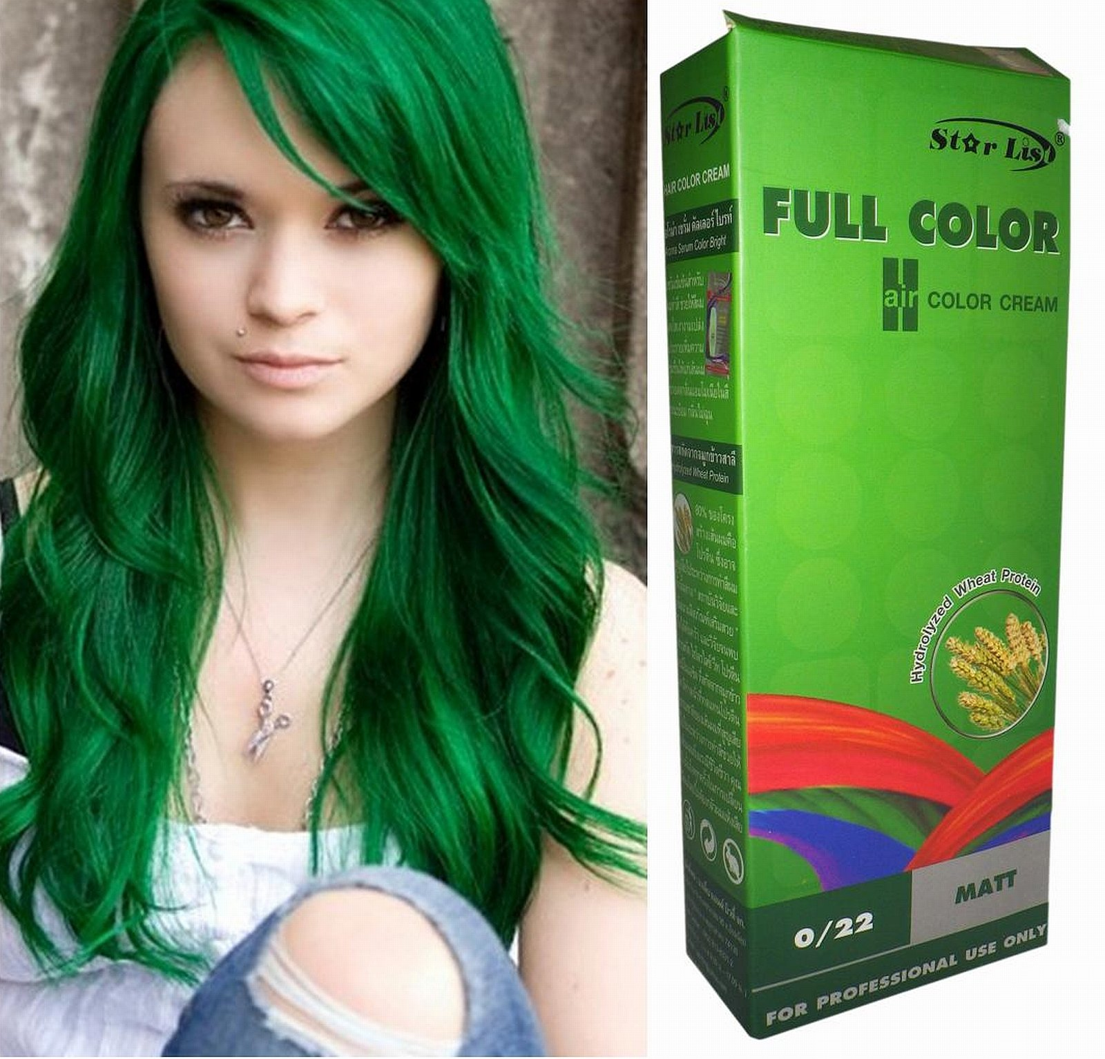 Amazon Premium Permanent Hair Color Cream Dye Goth Cosplay Emo