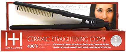 Amazon.com : Hot and Hotter Ceramic Straightening Comb 430°F 3/4 Inch 5946 : Beauty