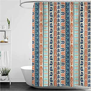 Tibal Rustic Shower Curtain Vintage Pattern Water Repellent Modern Bathroom Curtain, 40 x 72 Inch