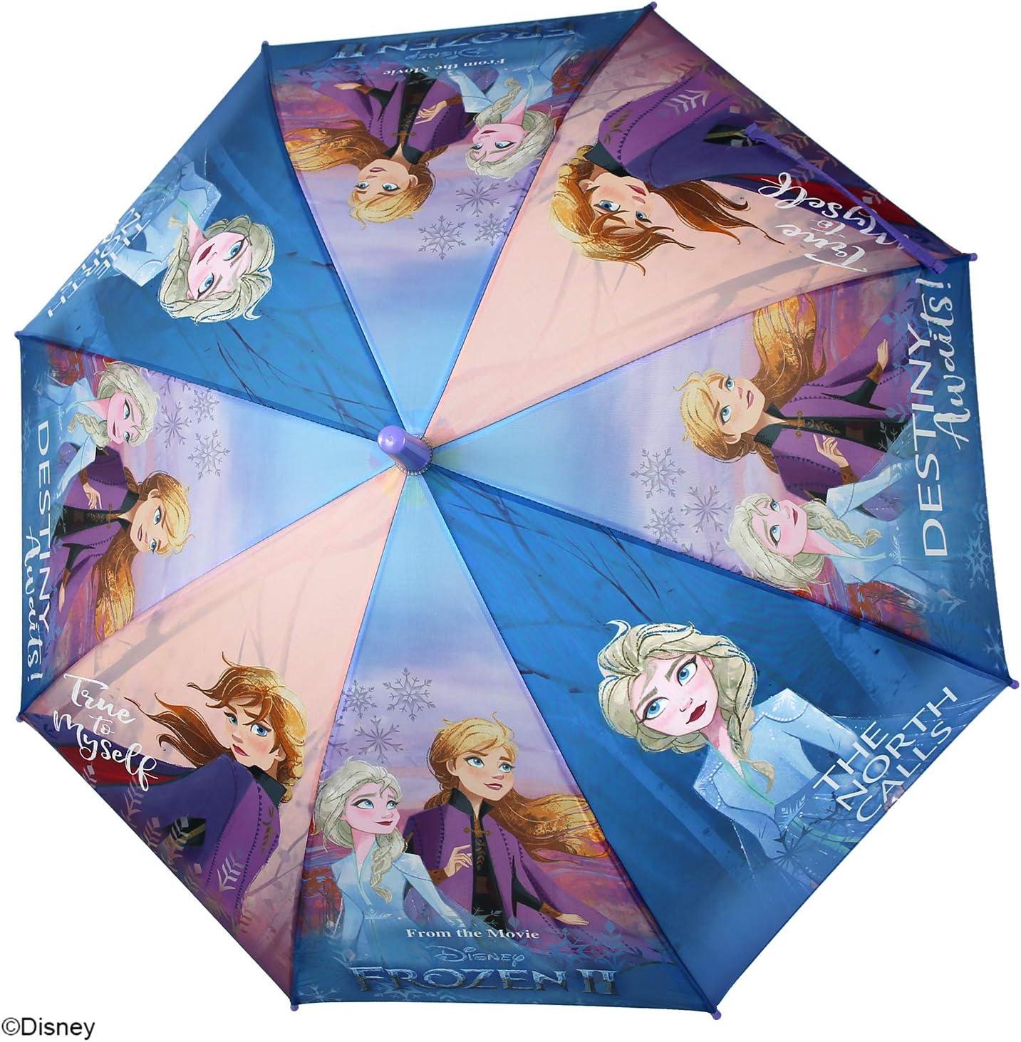 Diam/ètre 85 cm Parapluie Automatique Fillette 6//8 Ans Parapluie Frozen 2 Anna et Elsa Enfants Perletti La Reine des Neiges II Accessoires de Pluie Parapluie Disney Princesse Petite Fille