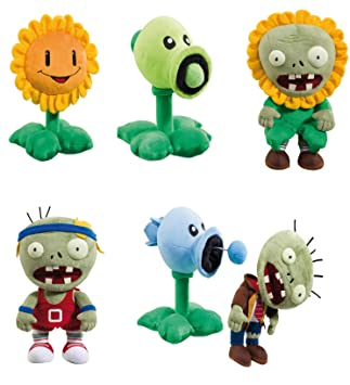 Plants vs Zombies pfanzen contra Zombies Deluxe ALL Stars 6 pieza Juego 28 cm Peluche Plush