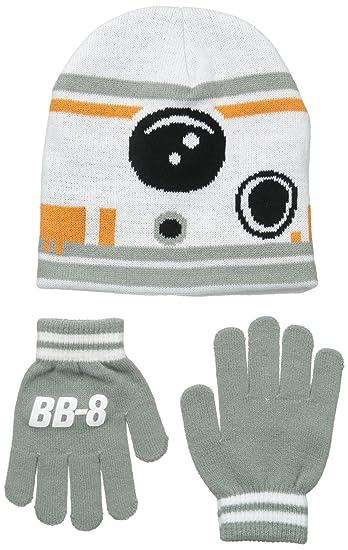 Star Wars Big Boys  Episodio 7 BB-8 Set de gorro y guantes de dos ... 095a50b908f