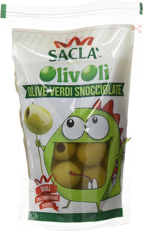 Sacl� Olivoli, Olive Verdi Snocciolate in Salamoia - 185 g