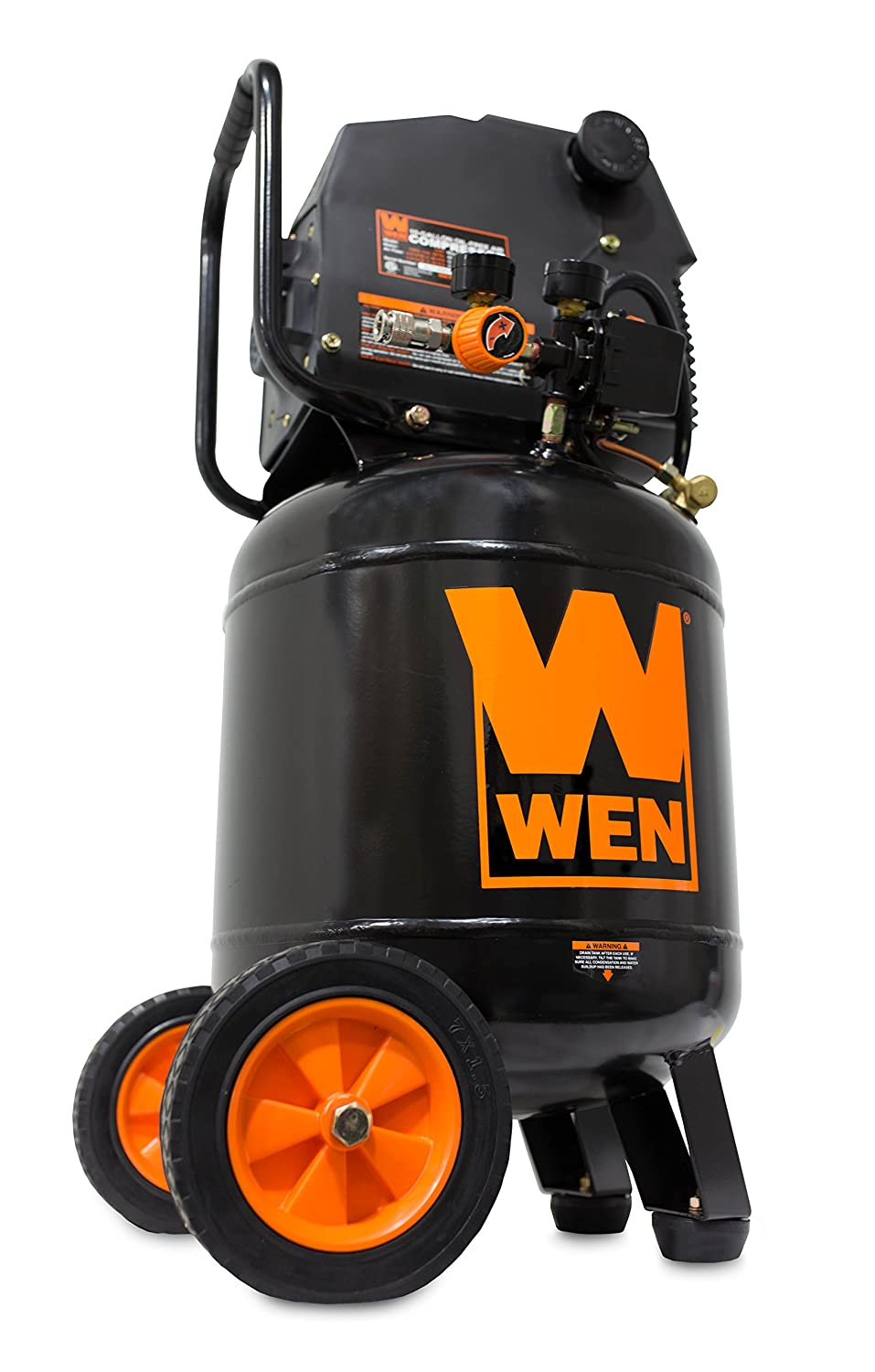 WEN 2289 10-Gallon Oil-Free Vertical Air Compressor, 150 PSI