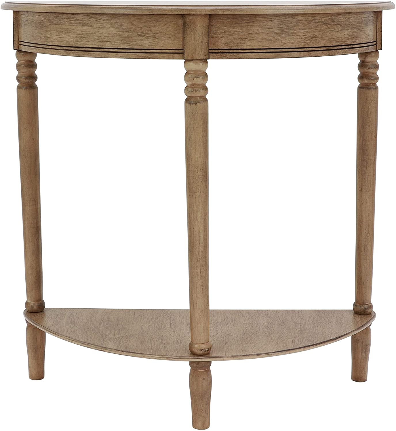 Decor Therapy Simplify Half Round Accent table, Sahara
