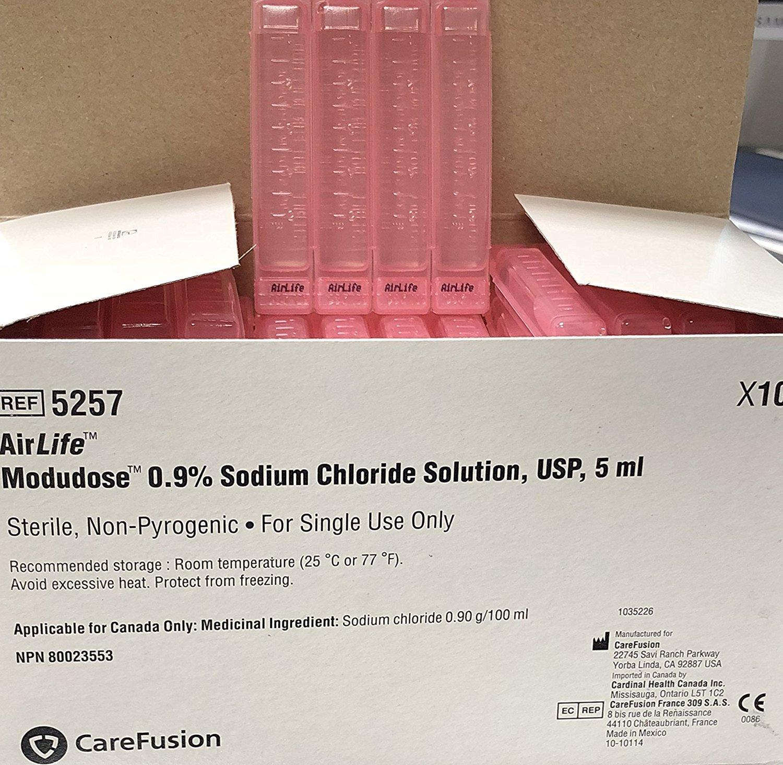 Airlife Modudose 0.9% Sodium Chloride Solution 5ml 100 per Box