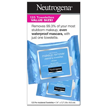 Producto de Neutrogena limpiador de maquillaje toallas, 125 ...