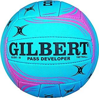Gilbert Ballon Entraînement de Netball Développeur de Passe - Bleu/Rose