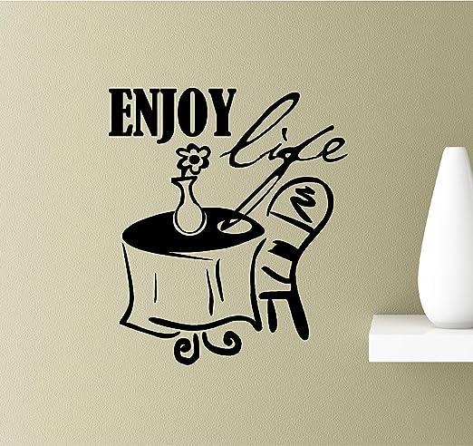 com enjoy life relax leisure time vinyl wall art