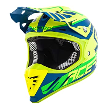 Casco moto Cross/Enduro Acerbis Profile 3.0 Skinviper XL GIALLO FLUO-BLU