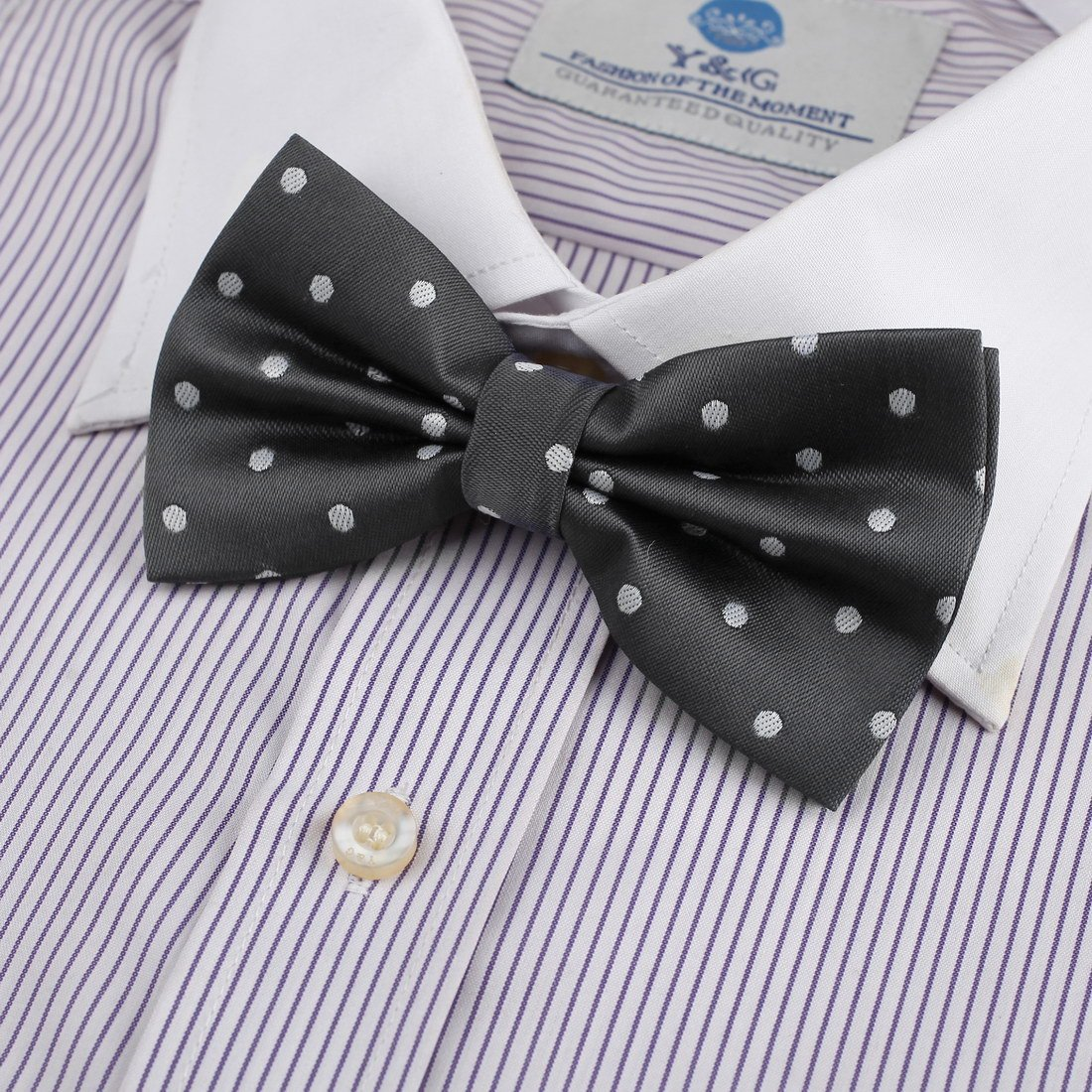 DBD3D01J Dark Red Polka Dots Woven Microfiber Management Gift Pre-tied Bow Tie By Dan Smith