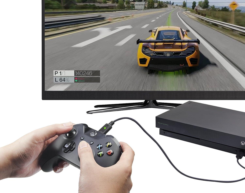 AmazonBasics - Kit Carga y Juega, con cable trenzado, para Xbox One, Xbox One S y Xbox One X , Negro: Amazon.es: Videojuegos