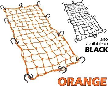 Orange 15x30 PowerTye/® Mfg Large Cargo Net featuring 10 Adjustable Hooks /& Tight 2x2 Mesh