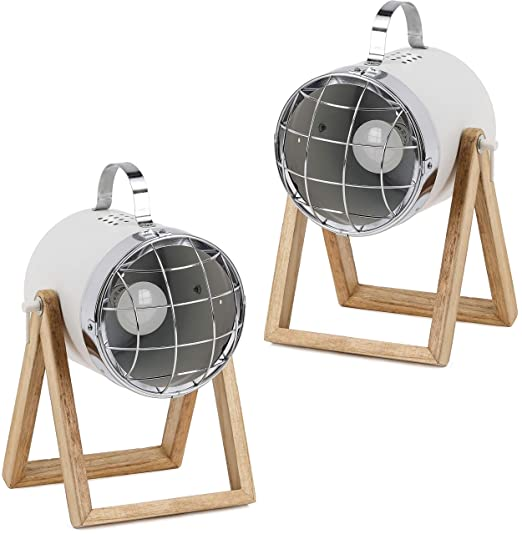 BRUBAKER set de 2 lámparas de sobremesa o de pie - diseño ...