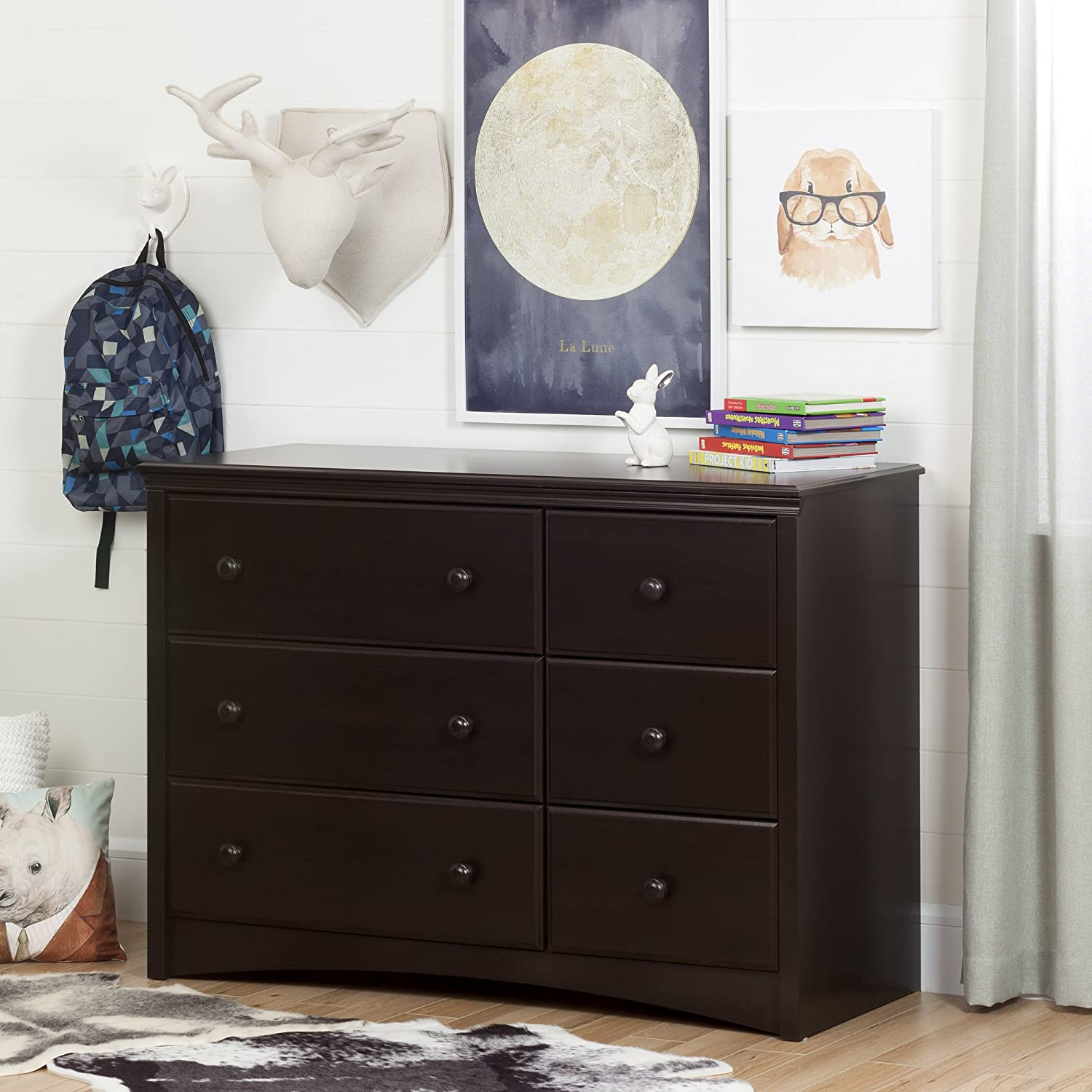 Perfect Amazon.com : South Shore Furniture Angel Changing Table With 6 Drawers,  Espresso : Baby