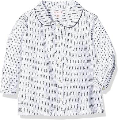 Gocco Camisa Cuello Bebe, Azul Perla, 3-6 Meses para Bebés ...