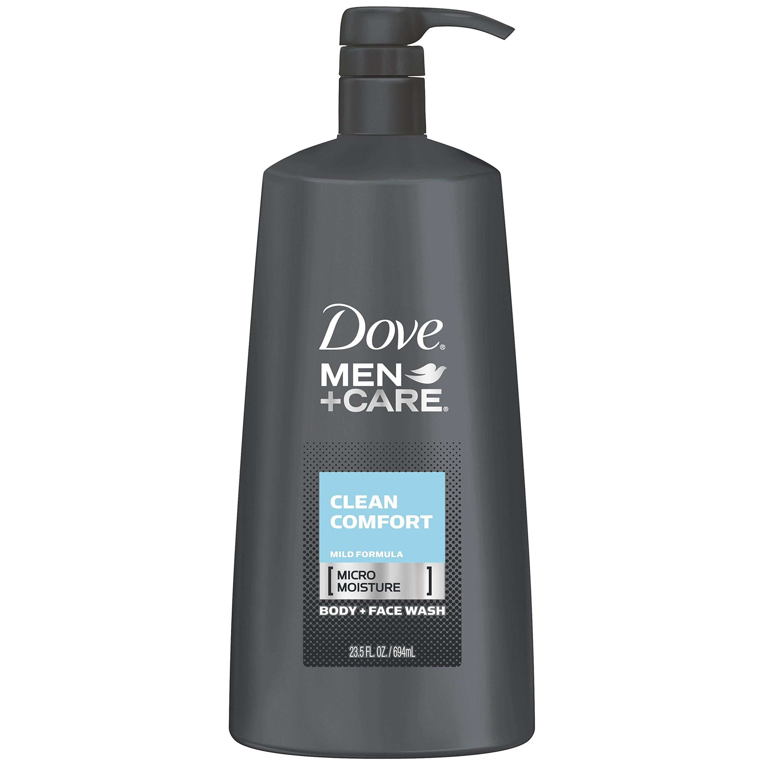 Dove Men+Care Body Wash Pump, Clean Comfort 23.5 oz