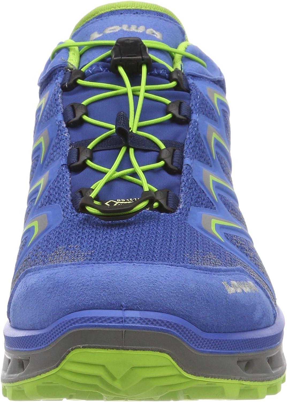 Lowa Herren Aerox GTX Lo Trekking-& Wanderstiefel, rot Blau Royal Limone 6203
