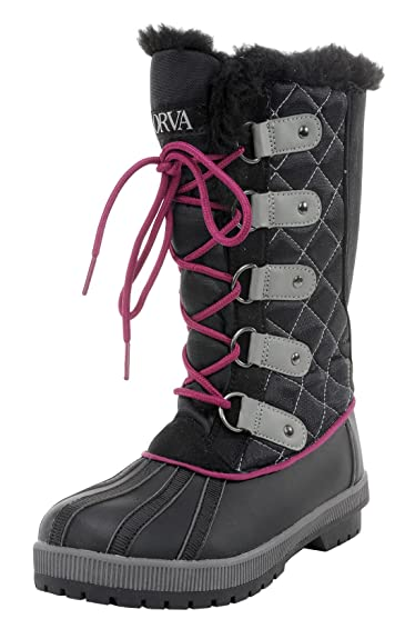 Amazon.com | ORVA Women's Snow Canyon Waterproof Winter Snow Lace ...