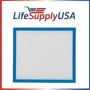 LifeSupplyUSA 2 Pack Replacement True HEPA Filter Compatible with HoMedics AP-10 AF-10FL AF-10 AP-15 AF-15 Air Cleaner