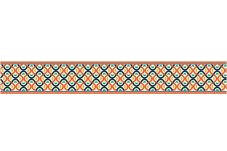 Couverture de tuile de papier peint de PVC de fronti/ère dauto-adh/ésif BR045