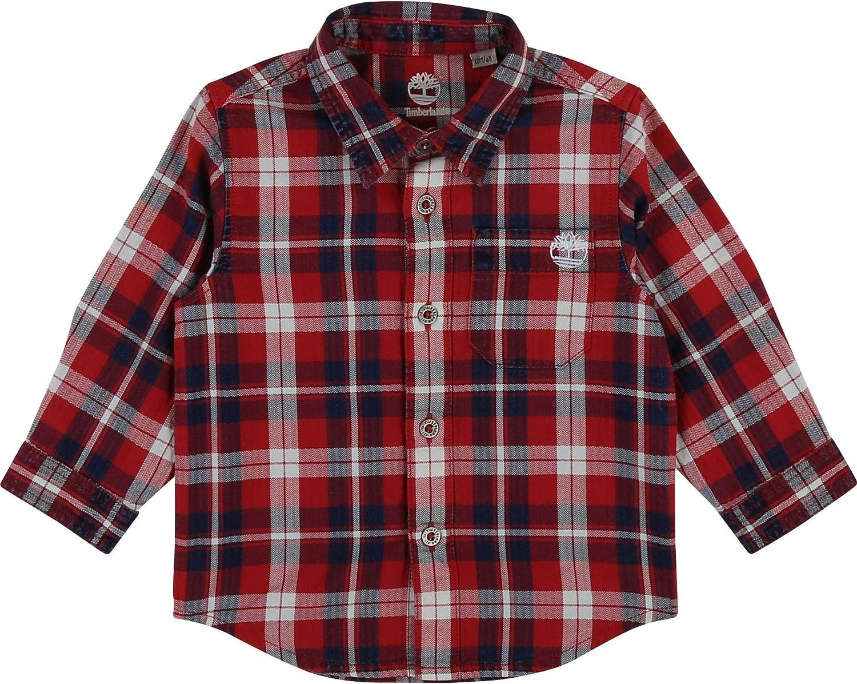 Timberland - Camisa de algodón con cuadros