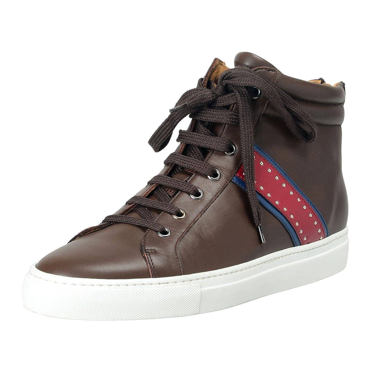 Casadei メンズ 革のハイトップファッションスニーカーの靴 B07BVXN8NK