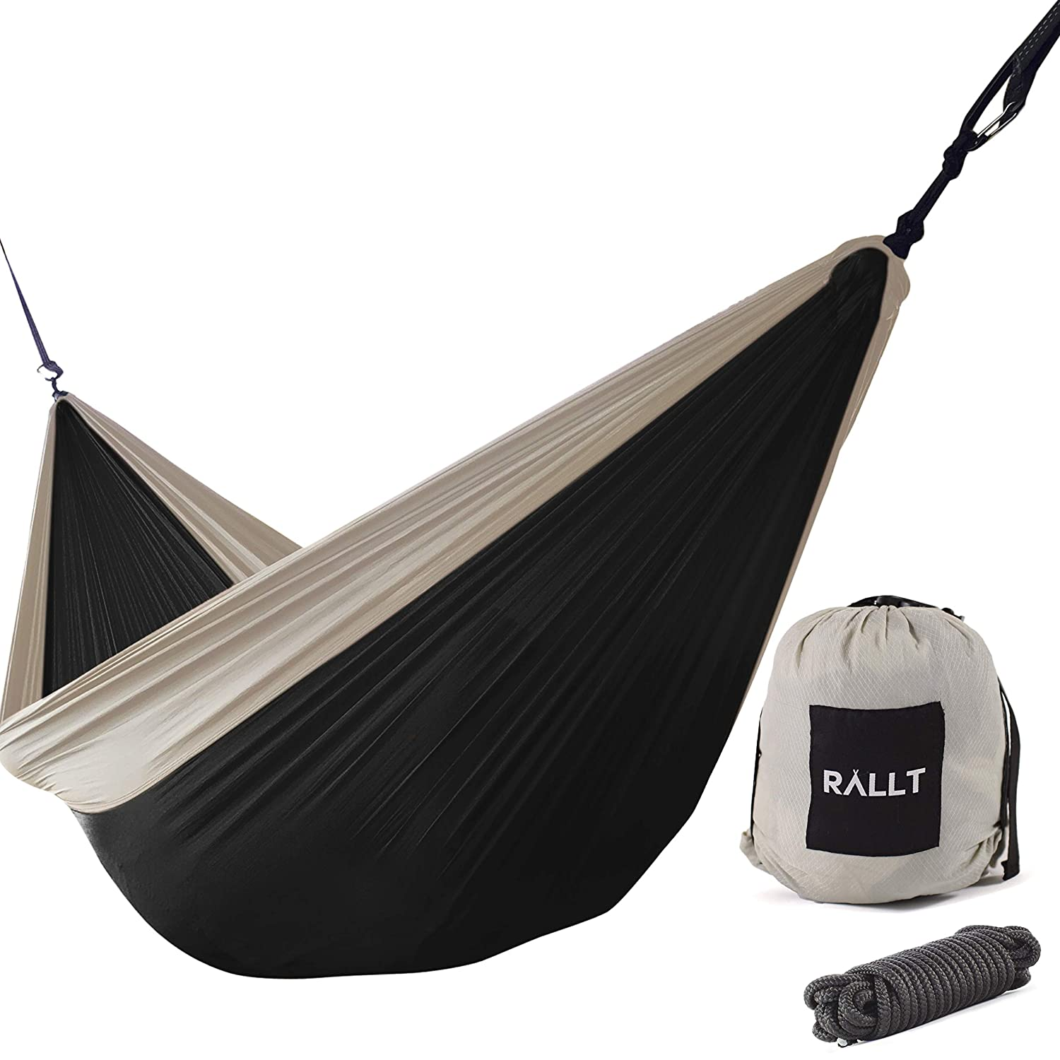 Backpacking and Survival Rallt Camping Hammock Gear for Hiking Lightweight Portable Durable Ripstop Parachute Nylon