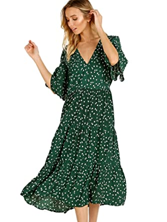 126fc8d0a17a Image Unavailable. Image not available for. Color: Faithfull The Brand  Melia Midi Dress Betina Floral Print