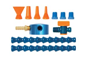 "Loc-Line Coolant Hose Magnetic Base Manifold Kit, 12 Piece, 1/4"" Hose ID"