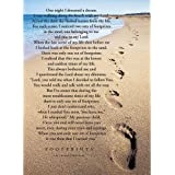 Footprints in the Sand Poem on Beach 18 x 13 Rectangular Small Garden Flag