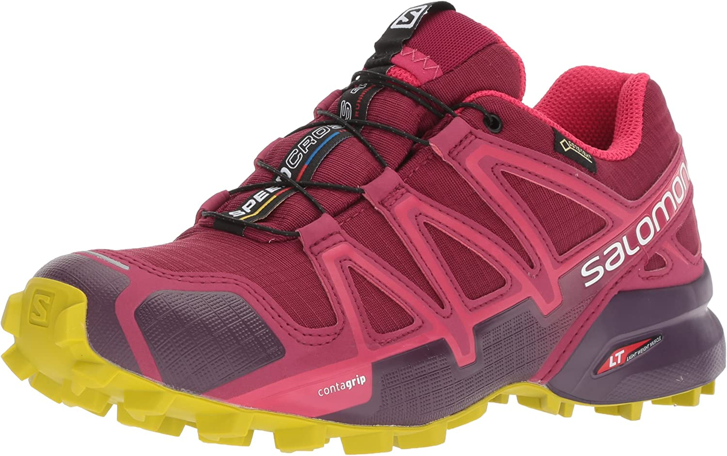 Salomon Speedcross 4 GTX, Zapatillas de Trail Running para Mujer, Rojo (Beet Red/Potent Violet/Citronelle), 41 1/3 EU: Amazon.es: Zapatos y complementos