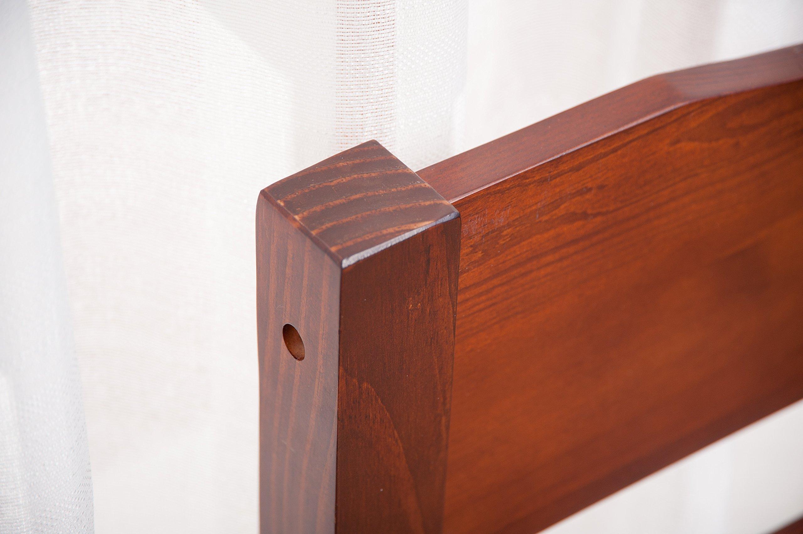 Merax Wood Platform Bed Frame with Headboard / No Box Spring Needed / Wooden Slat Support / Espresso Finish (-Walnut-) by Merax. (Image #5)