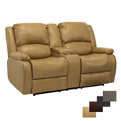 RecPro Charles Collection | 67u0026quot; Double Recliner RV Sofa U0026 Console | RV  Zero Wall