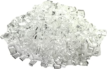 1 lb. Professional Quality Fake Glass or Movie Glass Rubber Tempered Glass Shards