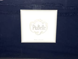 PIU BELLE Queen Size DOUBLE ROW FRINGE Sheet Set (Navy Blue) all cotton