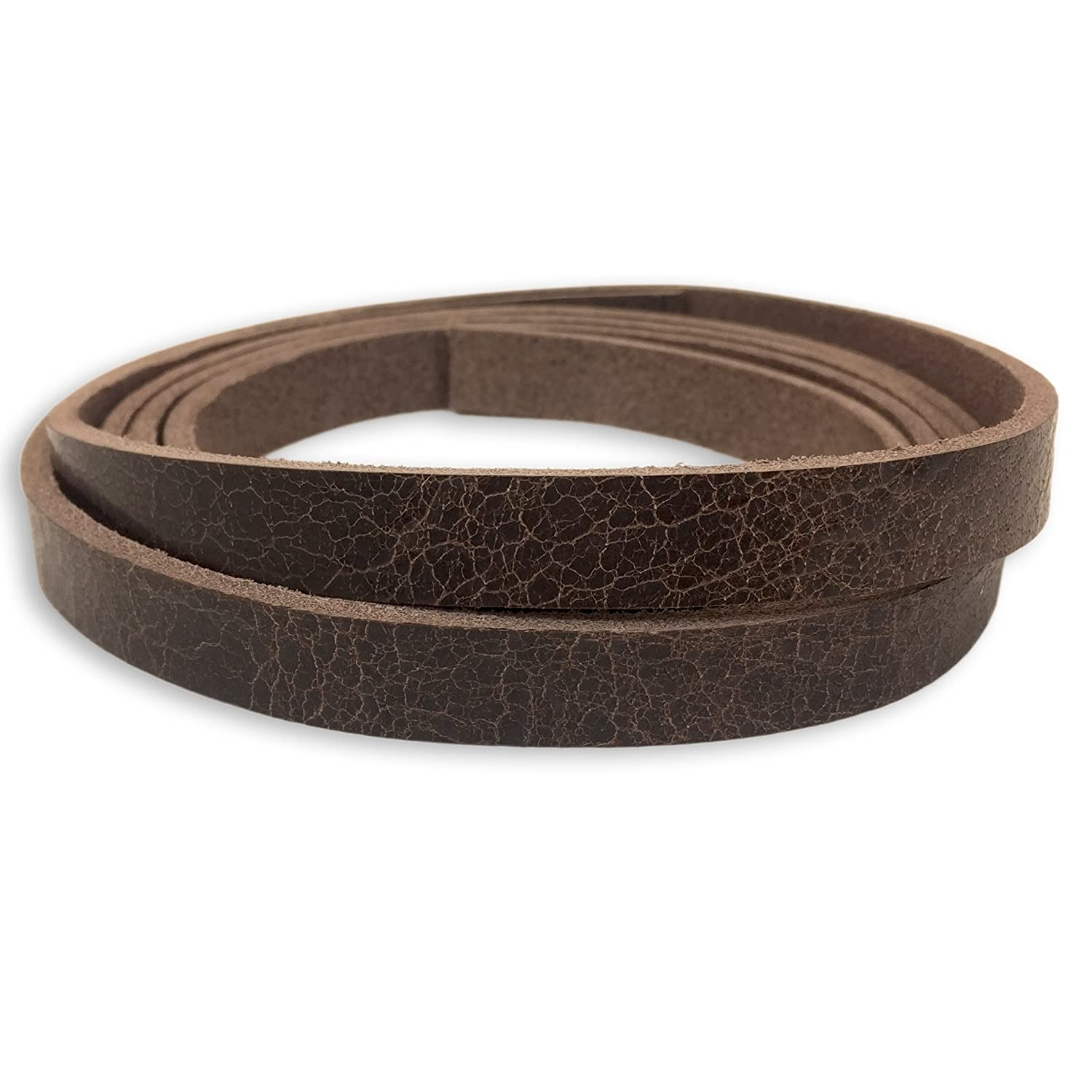 1-1//4 inch, Black Springfield Leather Company Buffalo Leather Strips