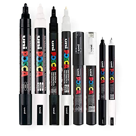 Other Art Supplies Pc-5m Posca Med Bullet Tip 6 Pack G&s Crafts