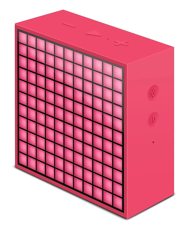 Divoom timebox-mini _ Ro Réveil Bluetooth pour iOS / Android Rose