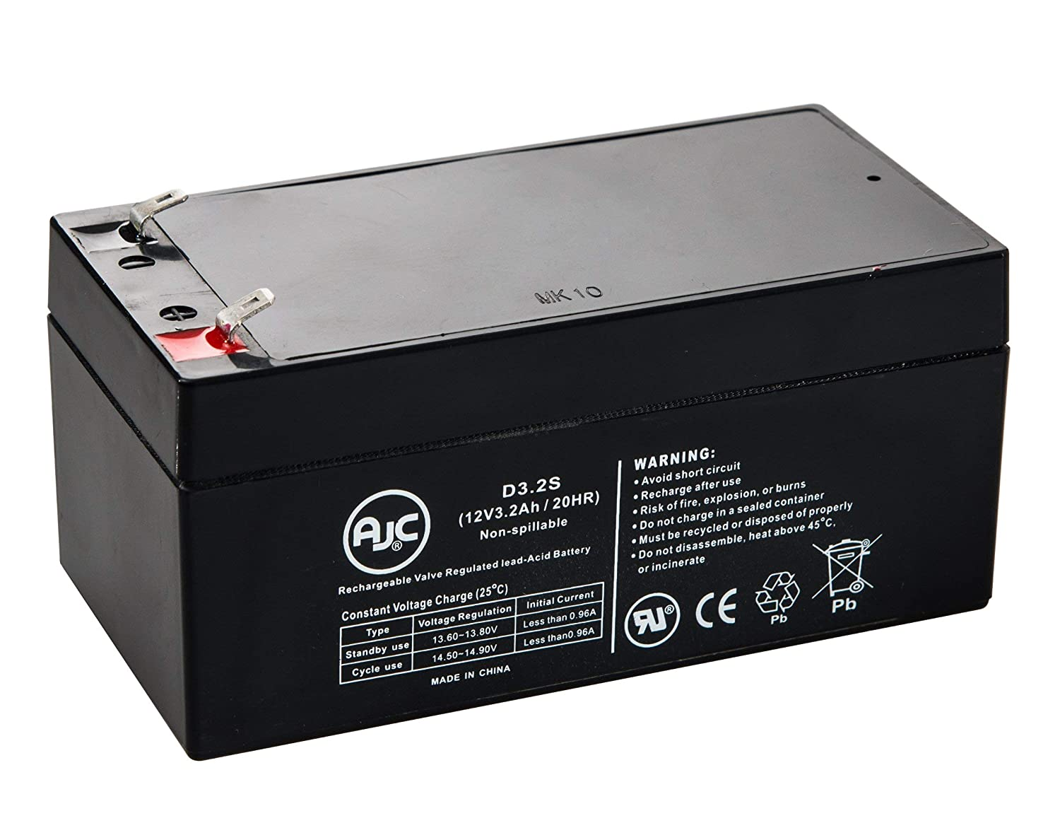 Vision CP1232, CP 1232 12V 3.2Ah UPS Battery - This is an AJC Brand Replacement AJC Battery