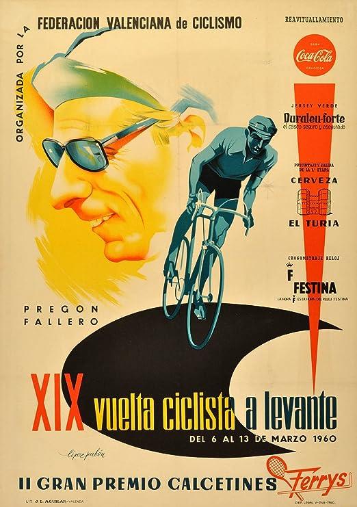 Vintage Cycling The 1960 XIX VUELTA CICLISTA A LEVANTE. II GRAN PREMIO CALCENTINES ESPAÑA 250gsm Gloss Art Card A3 Reproducción Poster: Amazon.es: Hogar