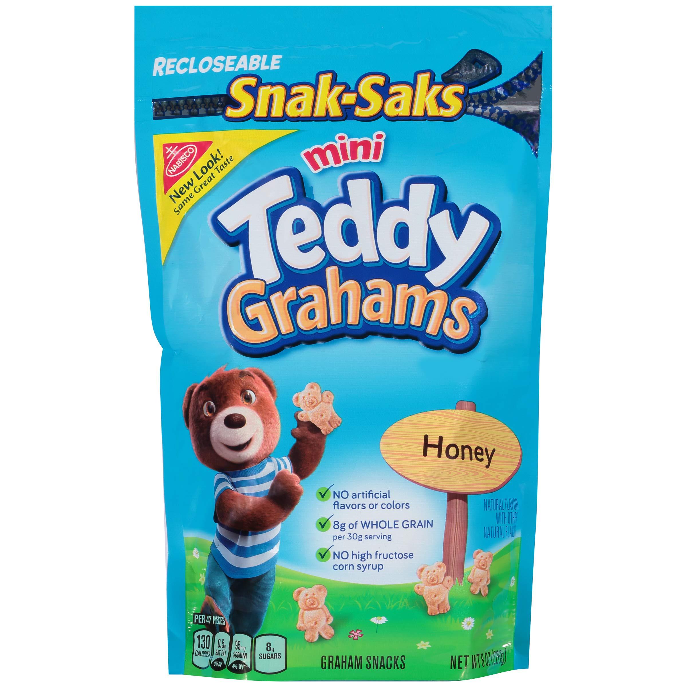 Teddy Grahams Honey Graham Snacks, Snack-Sak, 8 Ounce (Pack of 12) by Teddy Grahams