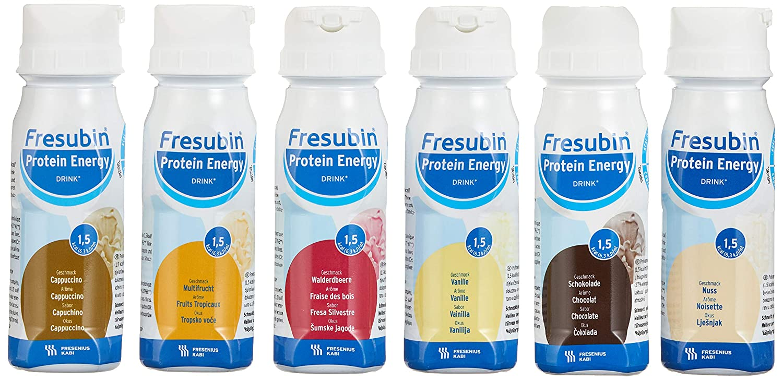 Fresubin Protein Energy Drink Mischkarton Trinkflasche, 6X4X