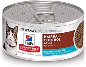 Hill's Science Diet Wet Cat Food, Adult, Hairball Control, Cans, 24-Pack