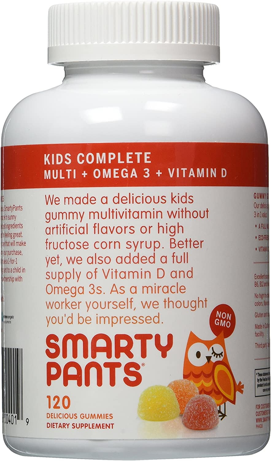 SmartyPants Children s All-in-One Multivitamin Plus Omega-3 Plus Vitamin D 120 Gummies Pack of 2