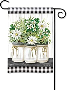 BreezeArt Studio M Farmhouse Daisies Decorative Garden Flag – Premium Quality, 12.5 x 18 Inches
