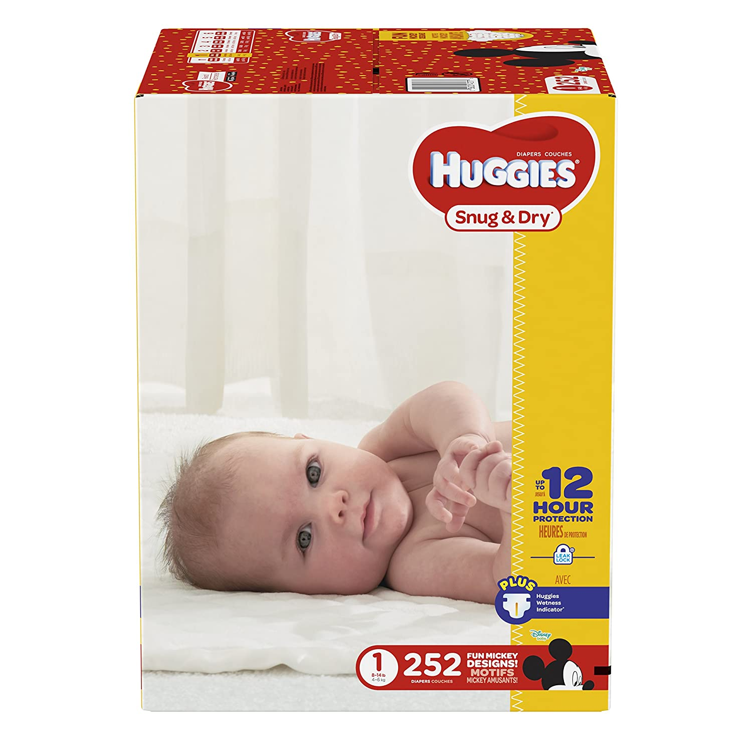 fed67122a HUGGIES Snug & Dry Diapers, Size 1, 252 Count: Amazon.ca: Health & Personal  Care