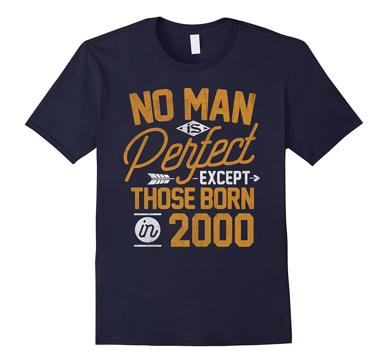 17th Birthday Shirt for 17 Years Old No Man Is Perfect 2000