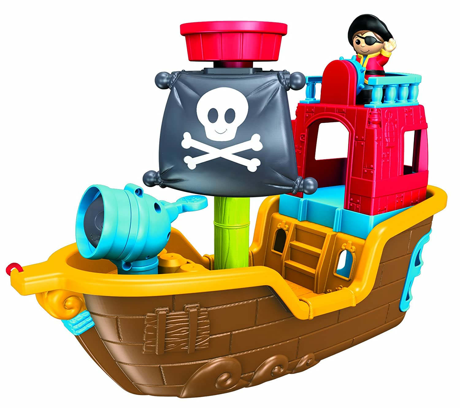 buy mega bloks pull along musical pirate ship online at low prices