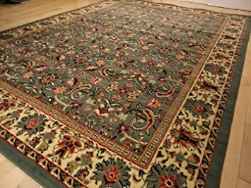 New Green Persian Tabriz Design Area Rug Door Mat Carpet Traditional 2x3 Living Room